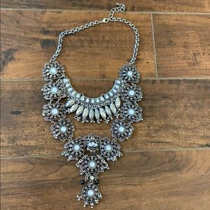 🌟RARE🌟Silver & Opal Statement Necklace